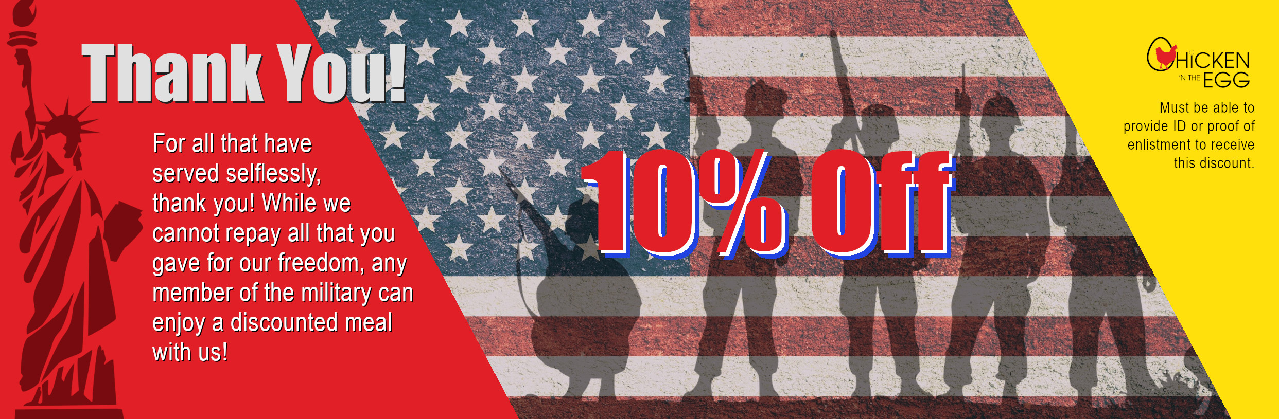 10% Off For Military, Every Day Of The Week!